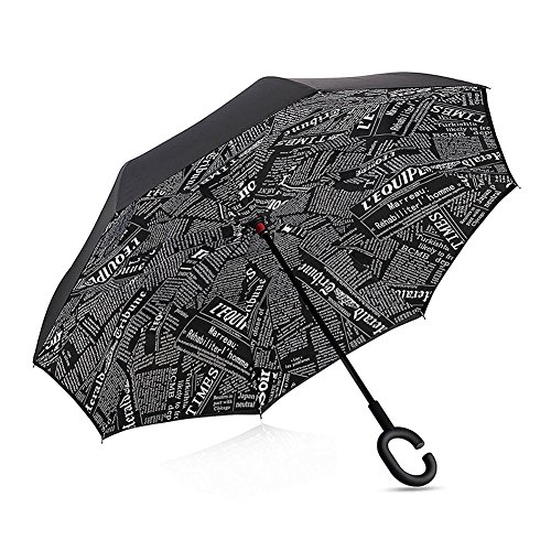 Plegable, invertido, paraguas -Doble capa invertida