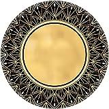 Amscan 8 Kuchen-Teller für 20er Jahre Glamour Party Motto Deko Geburtstag Hippie Gold Schwarz 20s Charleston Hollywood