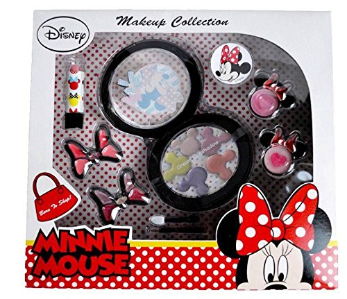 Beauty Collection Make-up-set (Disney Minnie Mouse Makeup Collection Including Lipstick, Eyeshadow & Lip Gloss)
