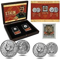 Monedas ANTIGUAS - 2 monedas + 1 sello, Colección Joseph Stalin