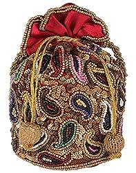 Ahankara Womens Potli (Maroon Gold ) (AMPU0000009)