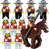 LEGO Castle, Kingdoms, chevalier: Armee et 2 x 5 Löwenritter, bloquer et hallebardes et un cheval, Set avec 11 Minifigurines
