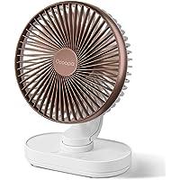 OCOOPA Ventilateur de Bureau, Auto Oscillant Ventilateur à Batterie Silencieux de 6,5 Pouces, 4 Vitesses Refroidissement…