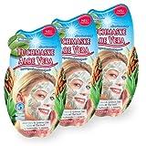 Montagne Jeunesse Tuchmaske mit natürlichen Inhaltsstoffen - Aloe Vera - 3er Set
