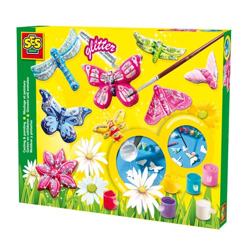 NEU SES Gießform-Set 'Glitter-Schmetterlinge' [Haushaltswaren]