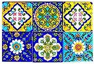 SHIV KRIPA Blue Pottery Home Decorative Home, Apartment, Flat,Hotel, Ceramics Mosaic Wall Kitchen Washroom Til