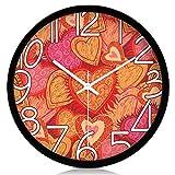 SED Wanduhr Einfache Persönlichkeit Moderne Europäische Uhr Quarz Uhr Kreative Stille Wanduhr Das Wohnzimmer ist Stilvolle Persönlichkeit Taschenuhr Wand,12 Zoll,Schwarzer Rand