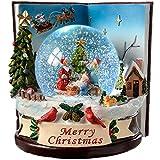 WeRChristmas-165-Palla di vetro con neve e bambini che cambia colore, decorazione natalizia, colore: multicolore