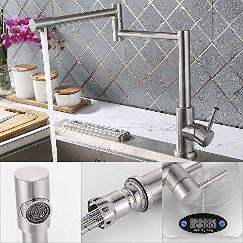 Homelody – 720° drehbare Küchenarmatur aus Edelstahl - 4