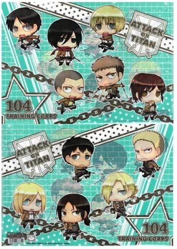 Attack on Titan Clear File thymidylate character corps training corps character (japan import) B00F9161QM 13de69