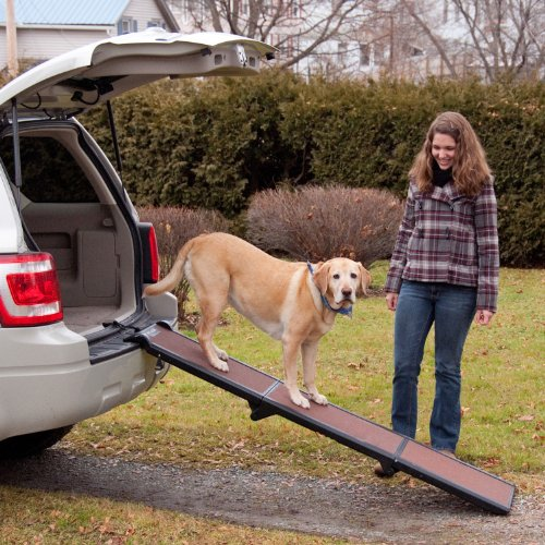 Artikelbild: Wolters Travel Lite Pet Gear -Hunderampe Hundetreppe Hunde Rampe Treppe Stufen Einstiegshilfe Auto- bis 90kg schoko/schwarz