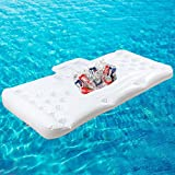 REAMIC Beer Pong Luftmatratze aufblasbar Beer Pong Spiel Pool Party Float(C:Weiß...