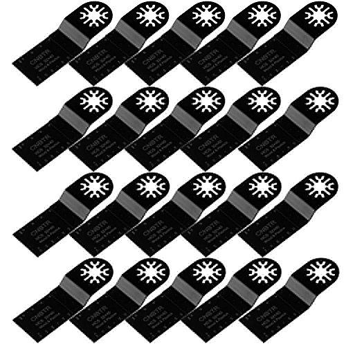 cnbtr 32x 40mm schwarz kohlenstoffreicher Stahl Universal oszillierendes Sägeblatt Multi Tools Set von 20