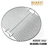 Bar. b.q.s 45 cm Diameter Gas Grill Replacement Cooking Grid Grates 7432 Kettle Grill Heavy Duty
