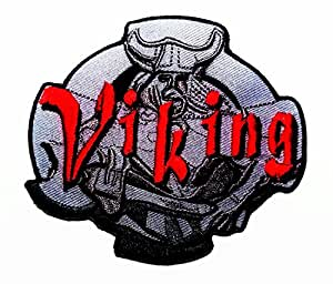 Viking Helmet Nordman Warrior Thor Hammer Odin Biker Iron on Patch Badge New with High Quality for Your Cloth