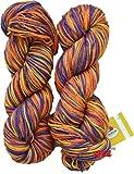 #8: Vardhman Flaura 100% Acrylic Wool Multi Voilet 400 gm