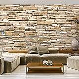 murando - Fototapete Steinoptik 400x280 cm - Vlies Tapete - Moderne Wanddeko - Design Tapete - Wandtapete - Wand Dekoration