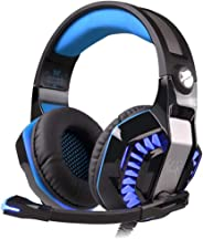 Kotion Each Over the Ear Headsets with Mic & LED - G2000 Pro Edition (Black/Blue)