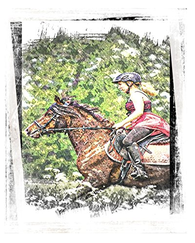 Horse Notebook: College Ruled - Lined Journal - Composition Notebook - Soft Cover Writer's Notebook or Journal for School  - College or Work - Steeplechase Horse Racing por Simple Planners and Journals