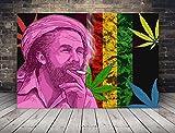 Cannabis Jamaica Streetart Poster Plakat für das Wohnzimmer Kunstdruck Bild - ungerahmt - INDIVIDUELLE GRÖßE tolle Geschenkidee mit Flair - Fine Art Print Leinwanddruck ab DIN A4-80x120 cm XXL