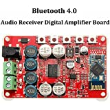WINGONEER TDA7492P 2 x 25 vatios de doble canal amplificador digital inalámbrica Bluetooth 4.0 Receptor de audio amplificador de 25W + 25W Junta