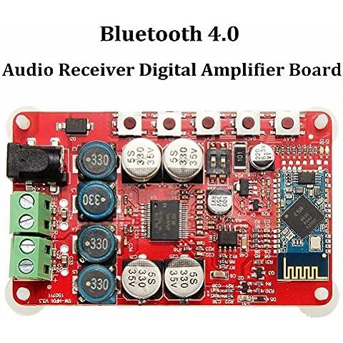 WINGONEER TDA7492P 2 x 25 vatios de doble canal amplificador digital inalámbrica Bluetooth 4.0 Receptor de audio amplificador de 25W + 25W