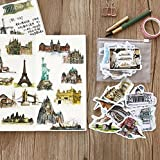 SUNYU Travel Around The World Watercolor Hand-Painted Building Decorative Stickers Adhesive Stickers DIY Decoration Diary Stickers