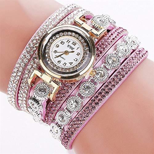 camillia-de Trendy Korean Women Watch with Velvet Strap Diamond Ring Quartz Watch Round Dial Quartz Watches Exquisite Workmanship