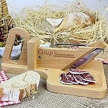 Cortafiambre - cortadora manual para embutidos, quesos y verduras, dimensiones: 28x18x2cm y peso 920 g, ergonómico y práctico
