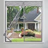 EQEQ Silk Road Anti Moskito Bug Vorhang, Klettband Magnet Moskito Vorhang Unsichtbar Gaze Magnet Fenster für Schlafzimmer Küche Wohnzimmer Garten - Beige 80 x 120 cm (31 x 47 Zoll)