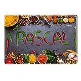 Tischset mit Namen ''Pascal'' Motiv Chili - Tischunterlage, Platzset, Platzdeckchen, Platzunterlage, Namenstischset