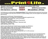 25 Blatt DIN A3 OHP Overheadprojektor Folie Transparente für Tintenstrahldrucker Inkjet. Eine speziell beschichtete Ink Jet Universalfolie zur Erstellung von professionellen Präsentationsfolien.