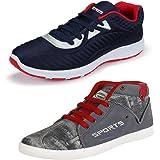 Earton Men Comfortable & Trendy Look Canvas Running Shoes (COMBO-1083+285_$p)