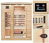 Home Deluxe – Infrarotkabine – Gobi L – Vollspektrumstrahler – Holz: Hemlocktanne - Maße: 153 x 110 x 190 cm – inkl. vielen Extras und komplettem Zubehör - 2