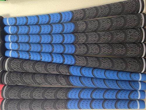 New, 9 Stück, Blau und Schwarz Multi Compound Golfschläger-Griffe, Anleitung (Multi-compound-golf-griffe)