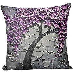 Fundas de cojines Sannysis Cama Inicio Alquiler Sofá decorativo almohada cubierta de la caja del amortiguador, 45 x 45 cm (J)