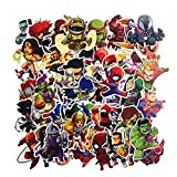 Top Stickers !  Lot de 50 Stickers Marvel - Autocollants HD Non Vulgaires - Bomb, Super Heros, Hulk, Spiderman, Superman, Tortues Ninja - Customisation, Scrapbooking, personnalisation...