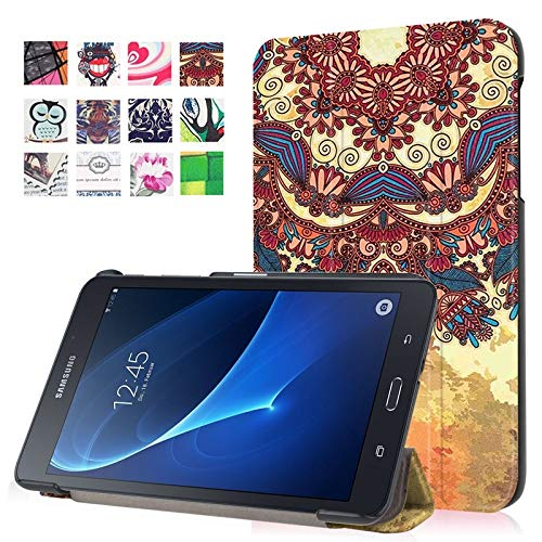 ANNFENG 2019 Mode Slim Premium personalisierte Eule Schmetterling Blume Löwenzahn Eiffelturm Design leichte stoßfeste intelligente Tablet-Hülle für Samsung Galaxy Tab A 7,0 Zoll 2016 SM-T280 / SM-T285 -