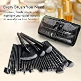 USpicy US-MB03 Makeup Brushes Cosmetics Professional Essential 32-Piece Make Up Brush Set Kits with Travel Pouch(Black) Bild 1