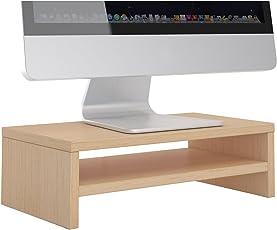 CARO-Möbel Monitorständer SUBIDA Schreibtischaufsatz Bildschirmerhöhung mit Ablagefach, Versch. Farben
