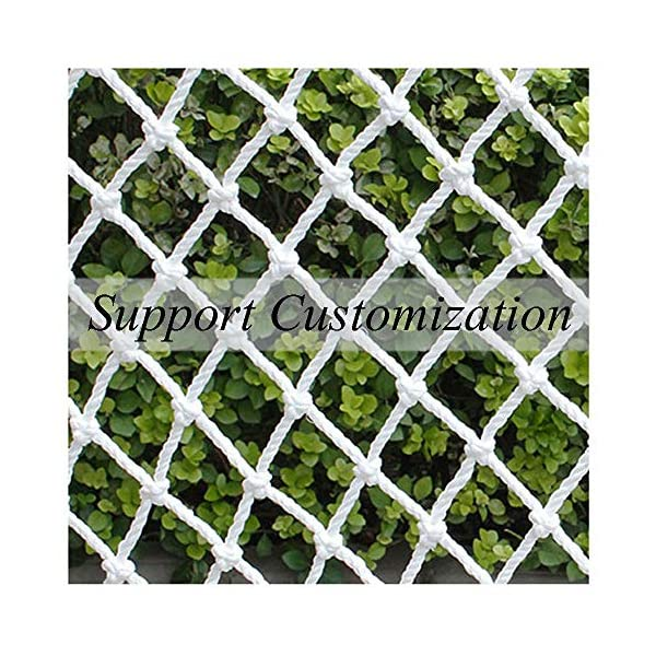 "Safe Net,Net for Stairs Balcony Net Child Safety Net Kids Protection Fence Decor Woven Rope Truck Cargo Trailer Netting Net Mesh Rail Banister Stair Nets,for Playground Children Indoor Outdoor Yard  ★Material of the kids protective netting: pure polyester. ★Mesh size*rope diameter:8cm*4mm(3""*5/32) , 8cm*6mm(3""*15/64) , 8cm*8mm(3""*5/16).Length*width: please make purchase according to your actual needs.We have any other size (rope diameter, mesh, length * width) rope net, support customization.If you have any questions or needs, please contact us. ★Multi-use protection net:family balcony and railing balcony stairs safety net banister stair anti-cat climbing, anti-high fall and other intensive protection; wall ,home, theme party hotel, guesthouse, cafe, bookshop, restaurant, decoration,hanging ect. 1"