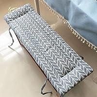 Cuscino spesso imbottito per panchina 80 x 40 cm, grigio scuro corridoio in schiuma con laccetto di fissaggio per balcone patio spessore 5 cm