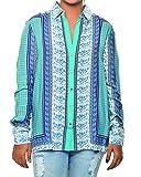 Women's Stylish Blue Print Shirt (Medium...