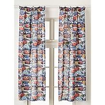 AG Diseño fcsxl 4335Disney Cars, habitación de los Niños/cortinas, 2piezas plástico, multicolor, 180x 160cm
