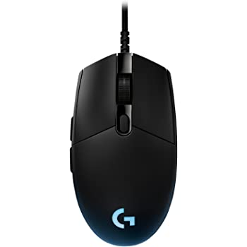 Logitech G Pro Gaming Mouse, Tournament Edition Used by Esport Professionals, RGB Lightning with 6 Programmable Buttons, International Package - Black