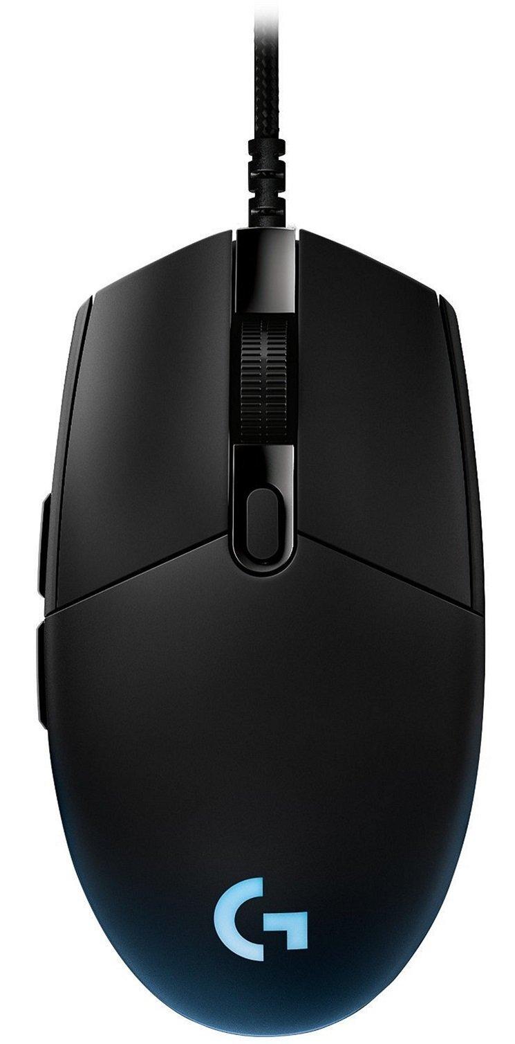 Logitech G Pro – Ratón óptico para Videojuegos (12.000 PPP, 1000 Hz, 1 ms, RGB, 6 Botones programables), Color Negro