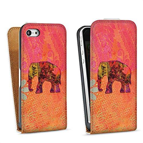 Apple iPhone 4 Housse Étui Silicone Coque Protection Éléphant Goa Indien Sac Downflip blanc