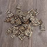 50PCS Unfinished Wooden Birdcage Cutout Discs Assortment for Patchwork Scrapbooking Arts Crafts DIY Decoration Birthday Wedding Display Decor (4 Assorted Styles)