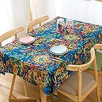 Clothes UK- Mantel de Lino de algodón Mantel rústico Estilo Maceta de Flores Manta de