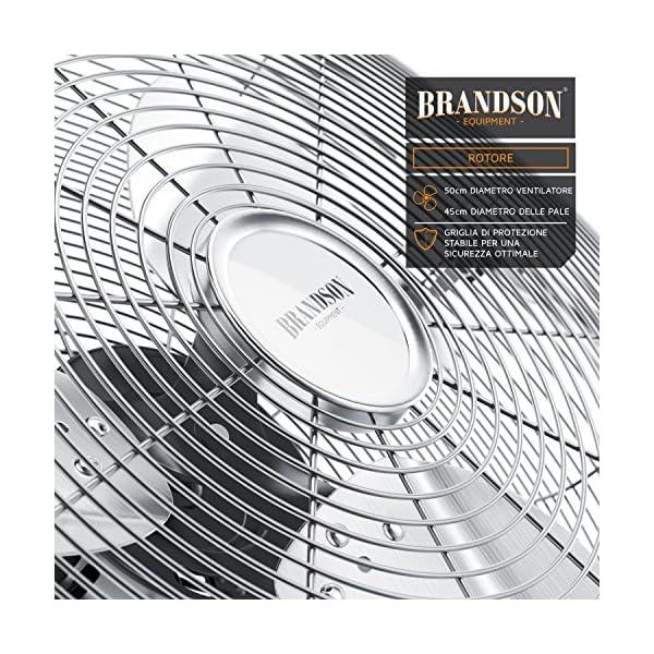 Macchina del Vento 3-Livelli di Potenza Brandson Ventilatore da Tavolo Ventilatore da 50 cm Rame 120W di Potenza Max assorbita Design Retro